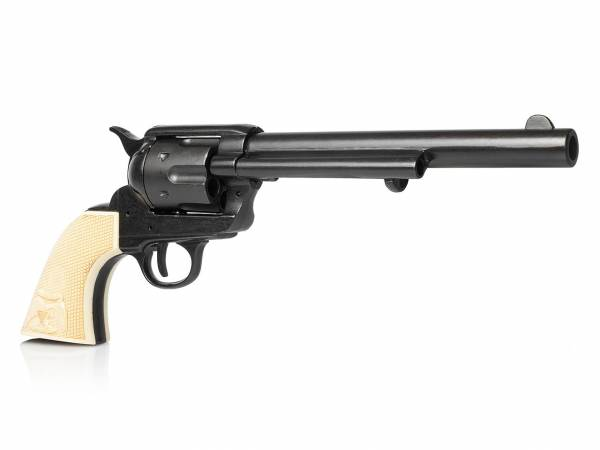 Deko Colt Peacemaker Cavalry in schwarz mit Eagle Grip