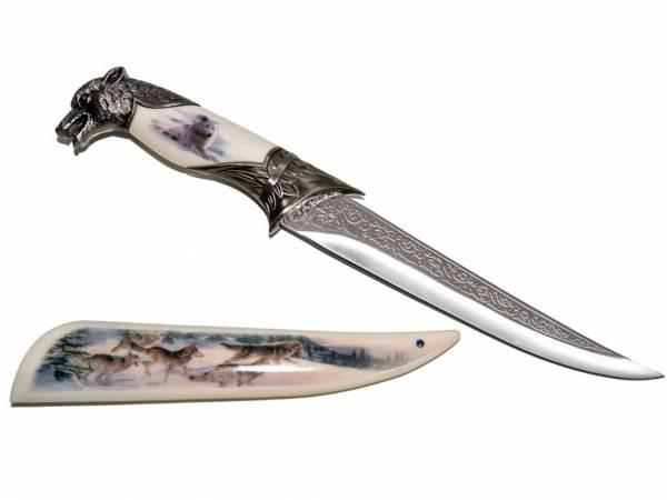 Wolfsdolch - Messer mit Scheide
