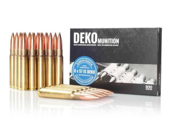 25 Stück Deko Patronen K98 Munition 8 x 57 IS