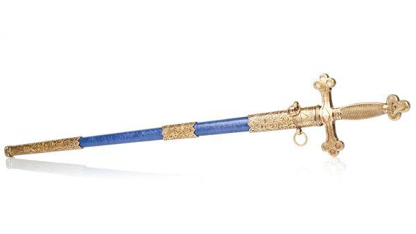 Fraimaurer Schwert in blau-messing